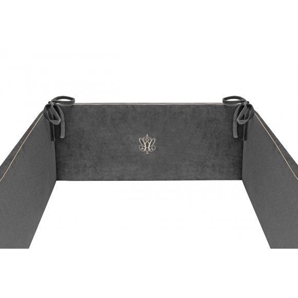 Caramella  Anthracite Gloss Cot Bumper - Beautiful Bambino