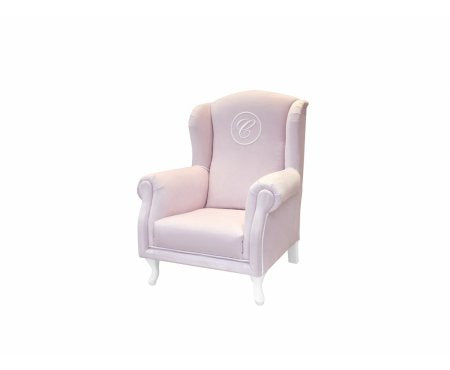 Caramella Baby pink mini armchair with emblem - Beautiful Bambino