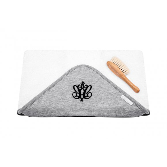 Caramella Towel Manhattan with Baby Hairbrush - Beautiful Bambino