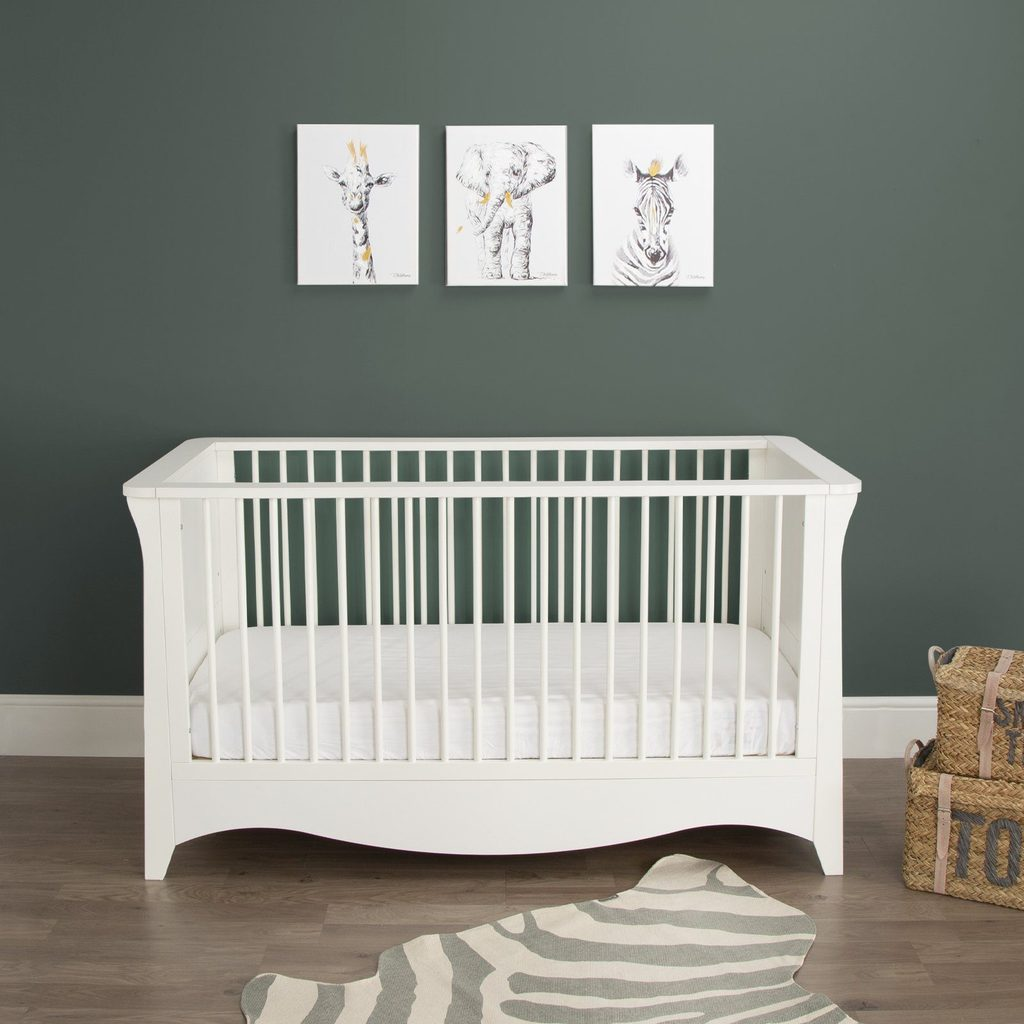 CuddleCo Clara Cot Bed - White