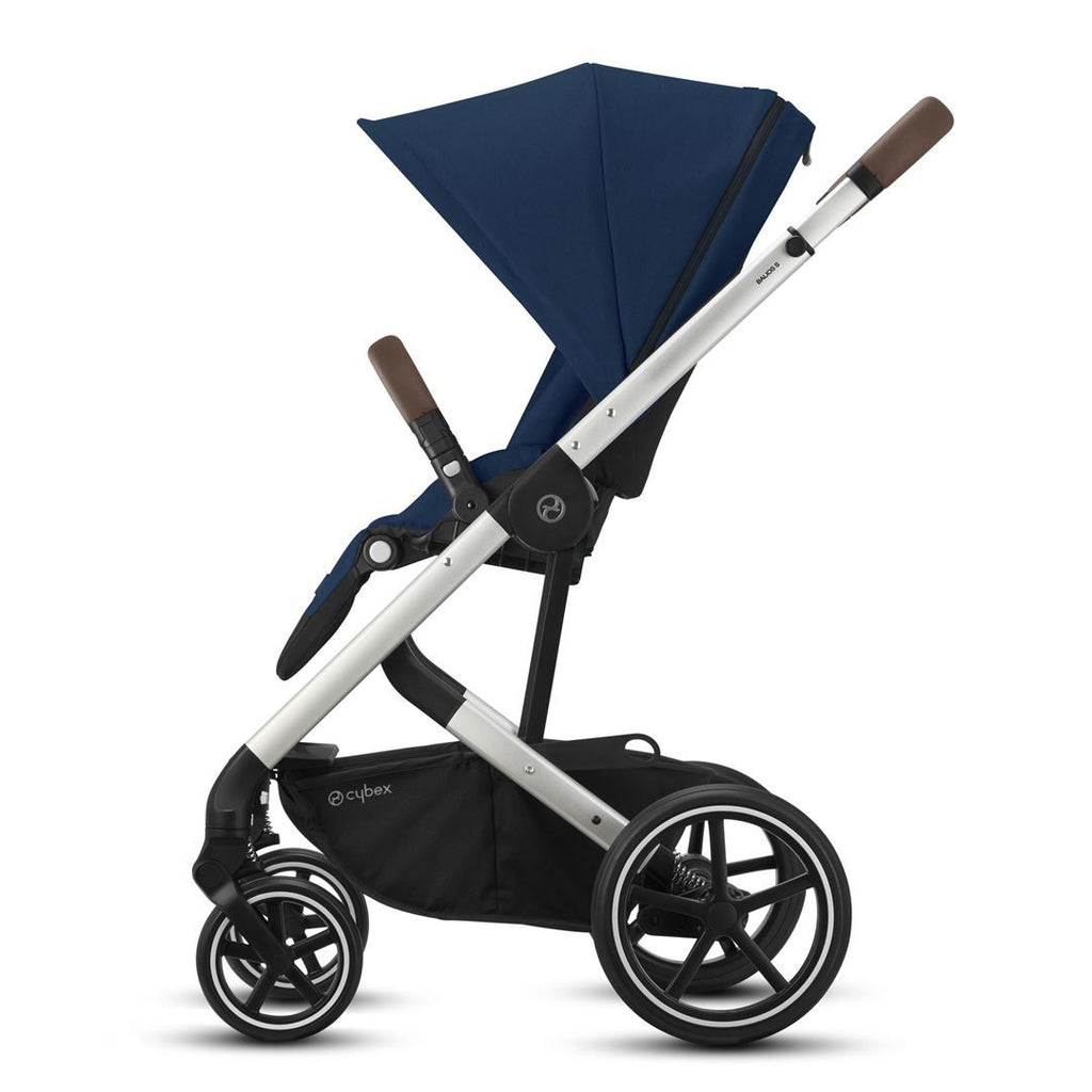 Cybex Balios S Lux Pushchair - Navy Blue & Silver - Beautiful Bambino