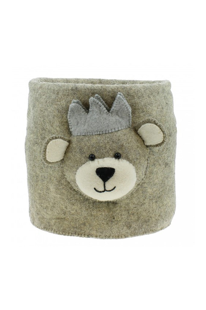 Fiona Walker Storage Bag - Baby Bear with Crown - Beautiful Bambino