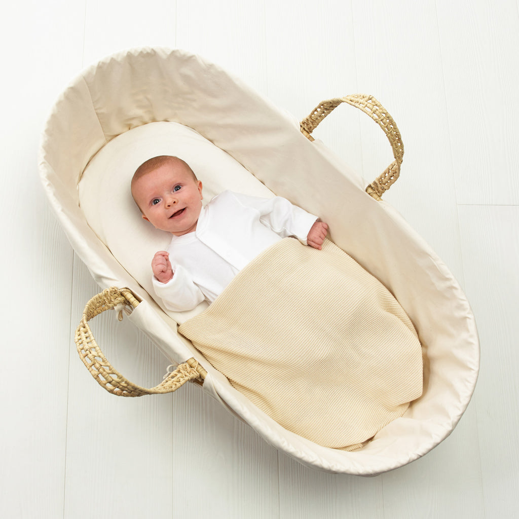 Organic Moses Basket Jersey Fitted Sheet - Beautiful Bambino
