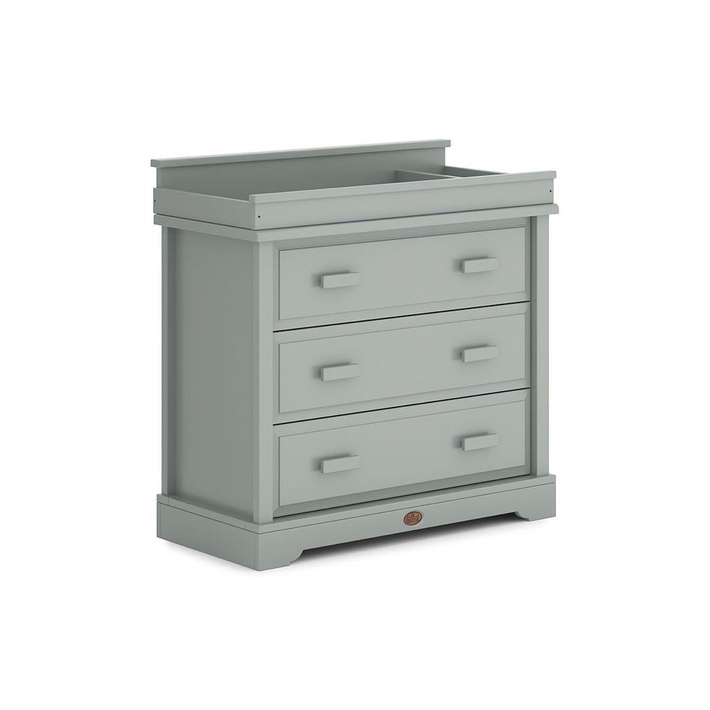 Boori Universal 3 Drawer Dresser with Squared Changing Station - Pebble - Beautiful Bambino