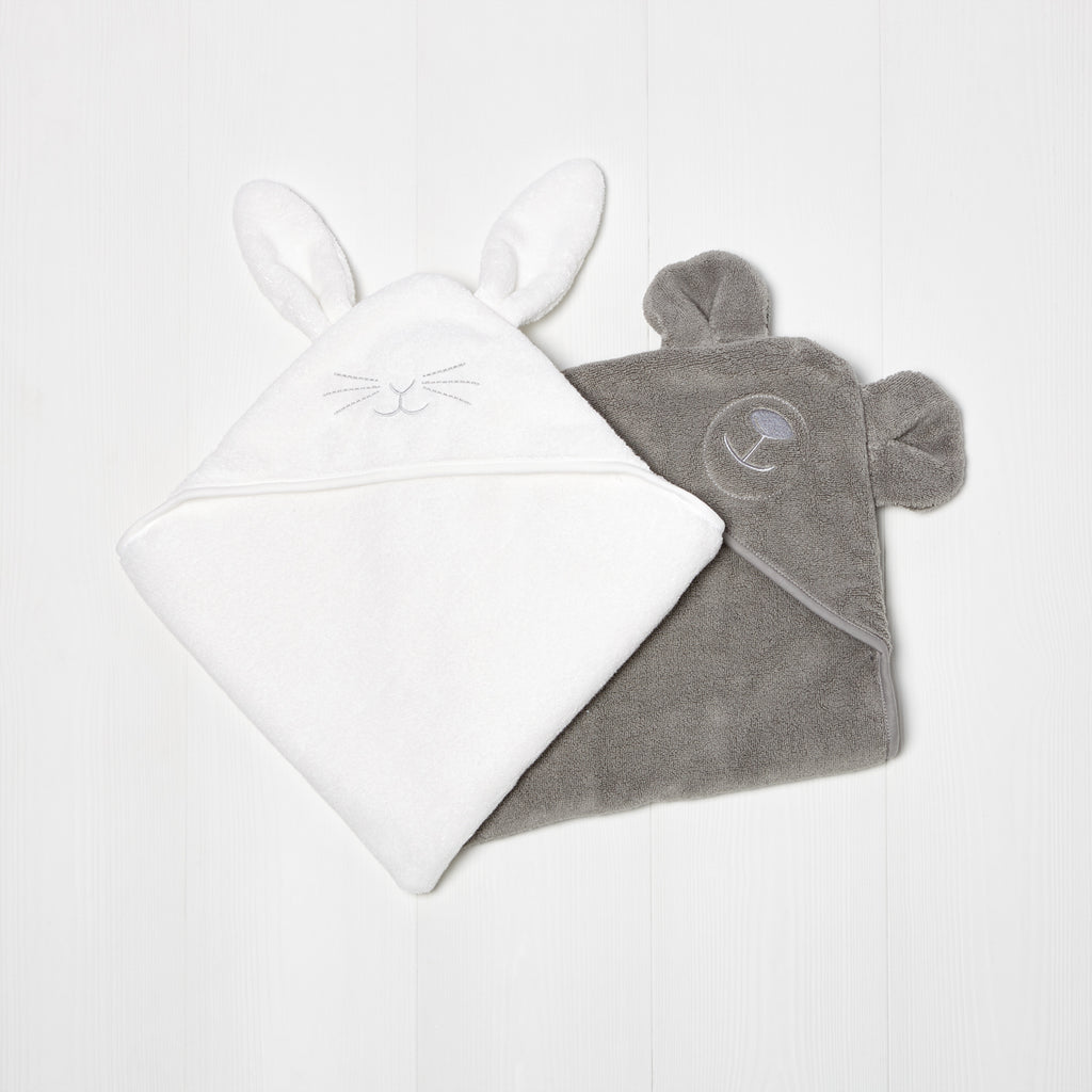 Organic Hooded Towel - Bear - Beautiful Bambino
