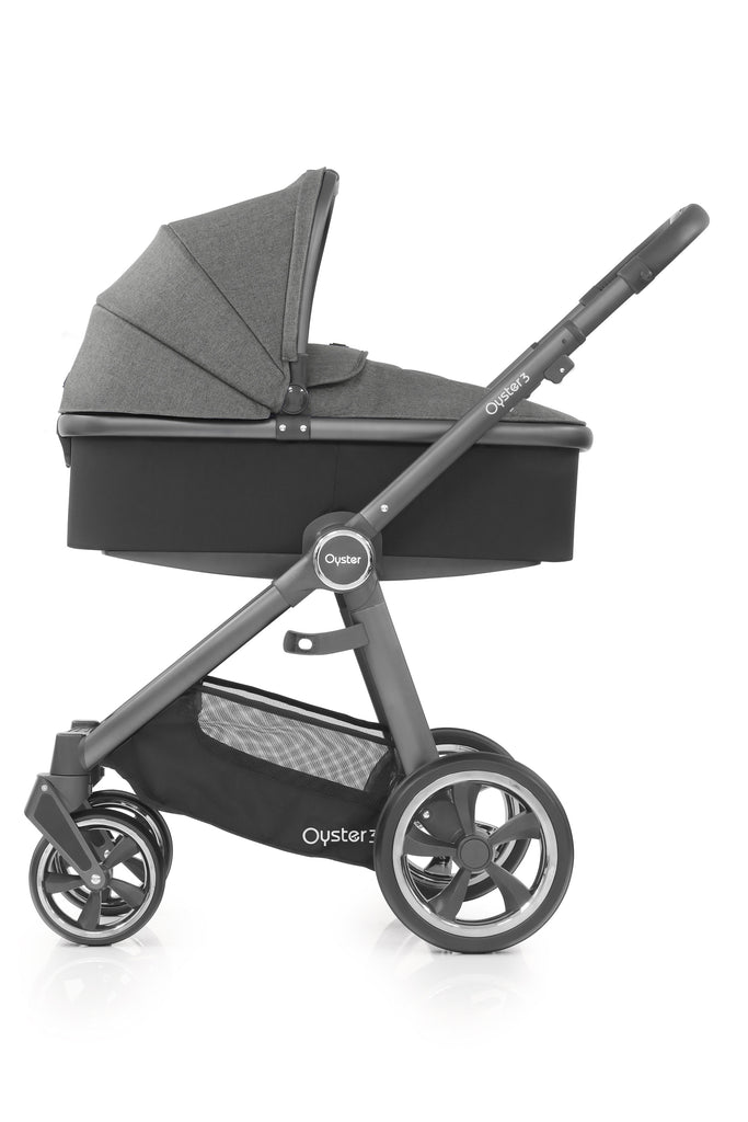 BabyStyle Oyster 3 City Grey Finish Stroller & Carrycot - Mercury - Beautiful Bambino