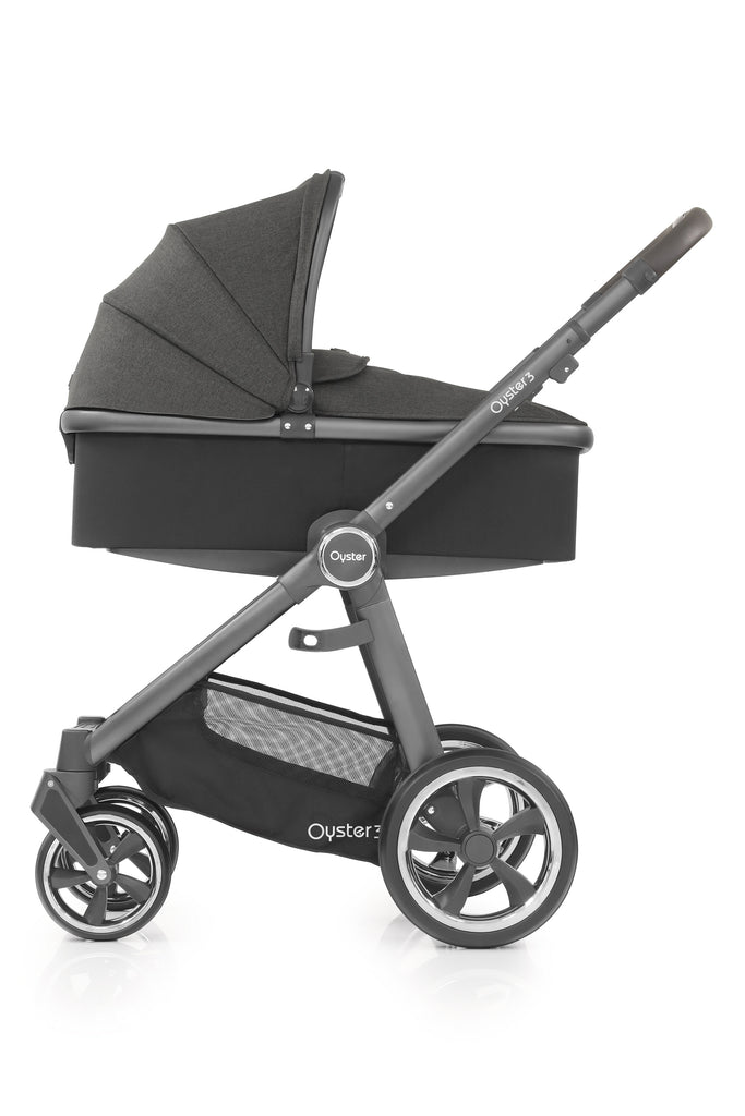 BabyStyle Oyster 3 City Grey Finish Stroller & Carrycot - Pepper - Beautiful Bambino
