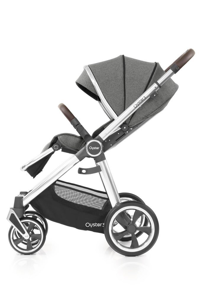 BabyStyle Oyster 3 Mirror Finish Stroller & Carrycot - Mercury - Beautiful Bambino