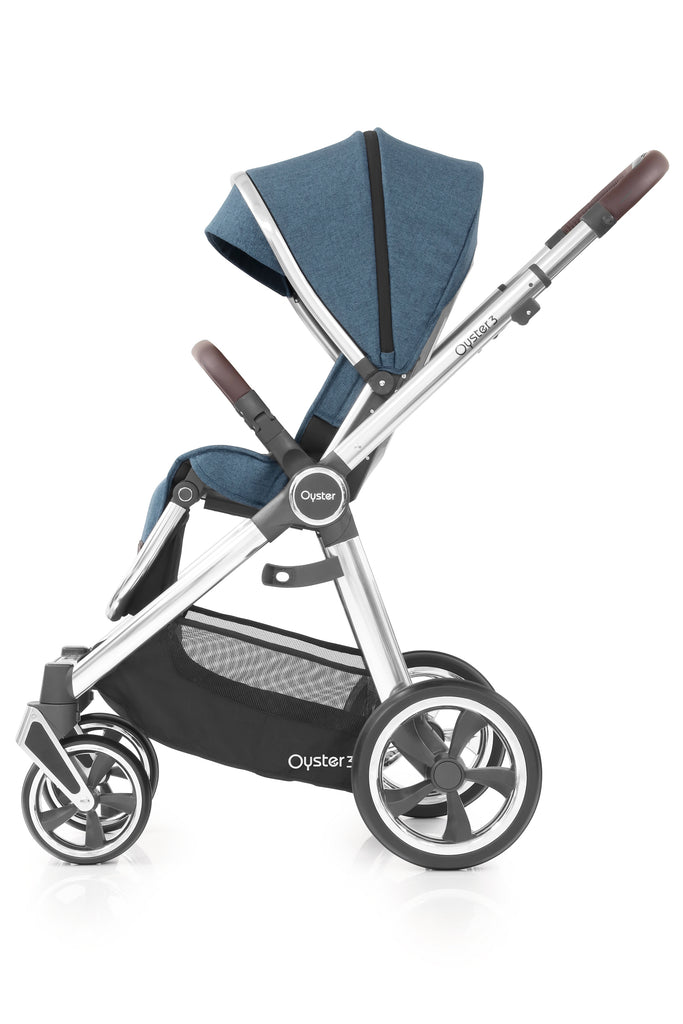 BabyStyle Oyster 3 Mirror Finish Stroller & Carrycot - Regatta - Beautiful Bambino