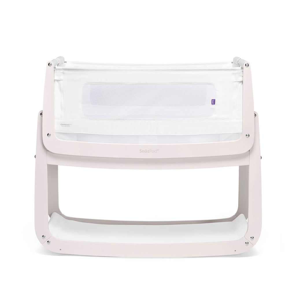 Snuzpod4 Bedside Crib - Rose White