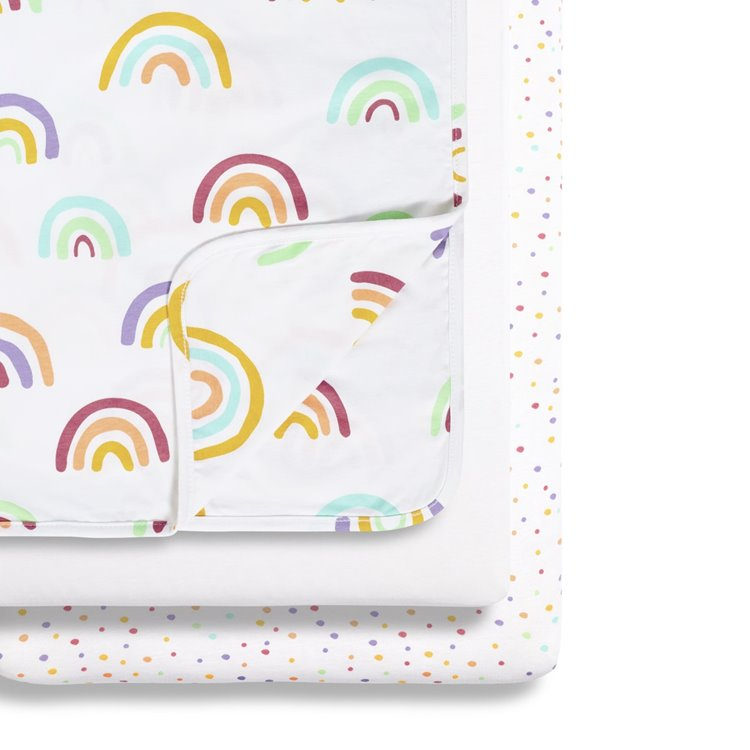 Snuz 3pc Crib Bedding Set - Colour Rainbow - Beautiful Bambino