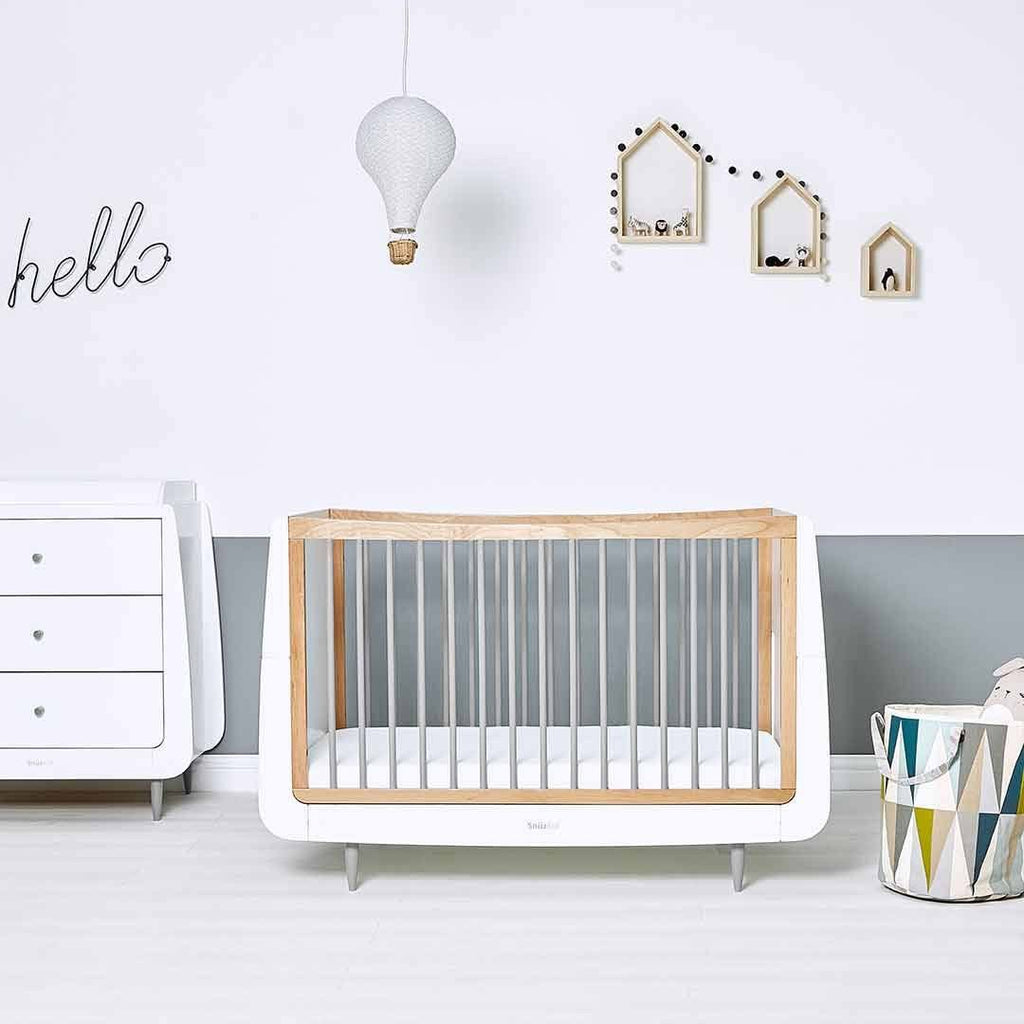 SnuzKot Skandi 2 Piece Nursery Furniture Set - Grey