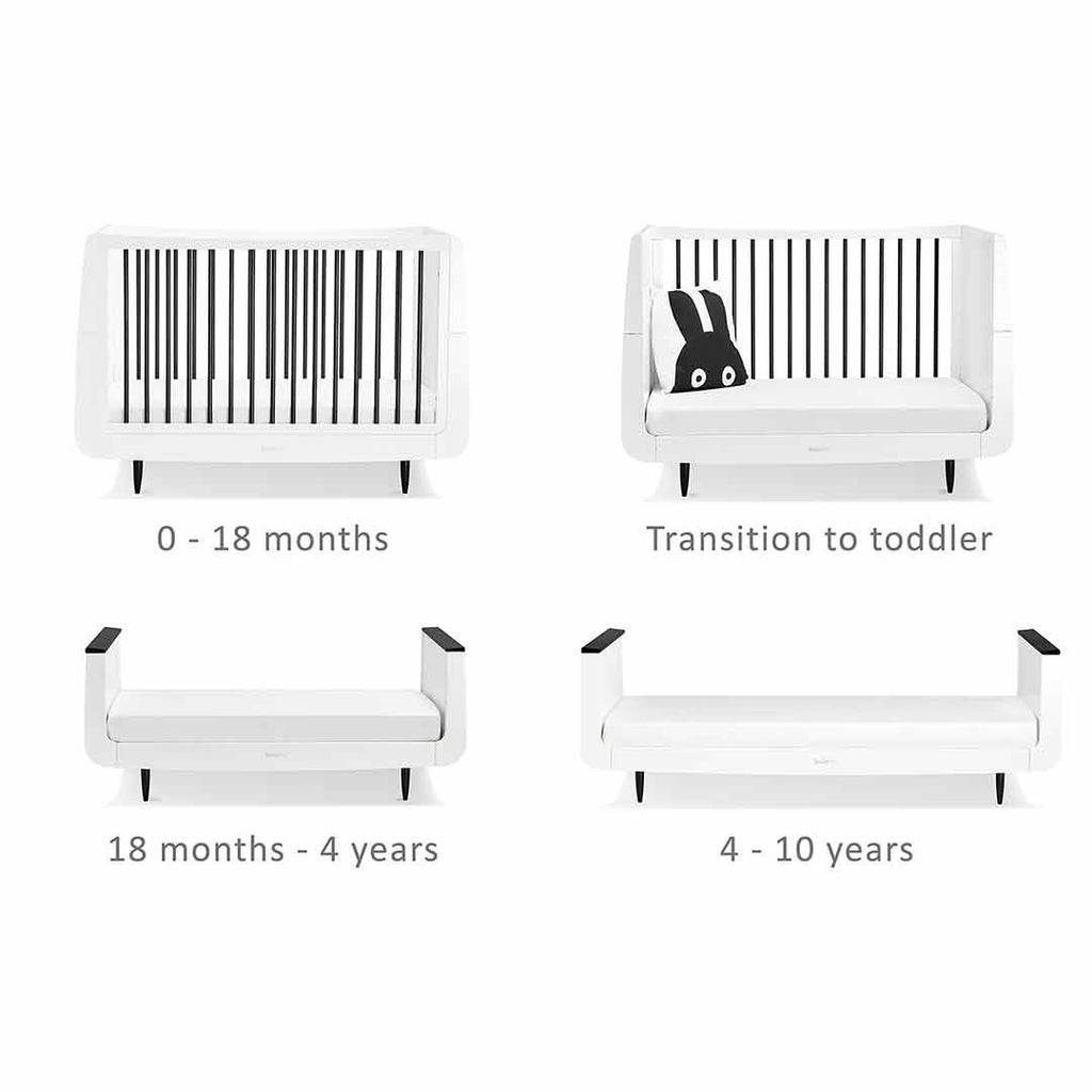 SnuzKot Skandi 2 Piece Nursery Furniture Set - Mono