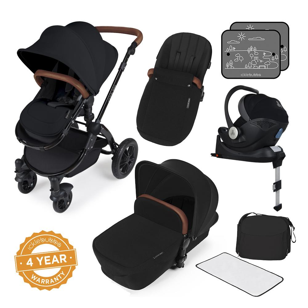 Ickle Bubba Stomp V3 i-Size All in One with Isofix Base - Black/Black