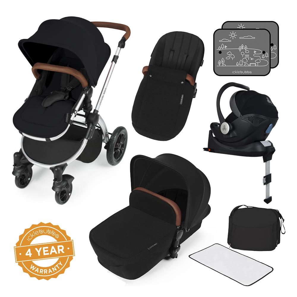 Ickle Bubba Stomp V3 i-Size All in One with Isofix Base - Silver/Black