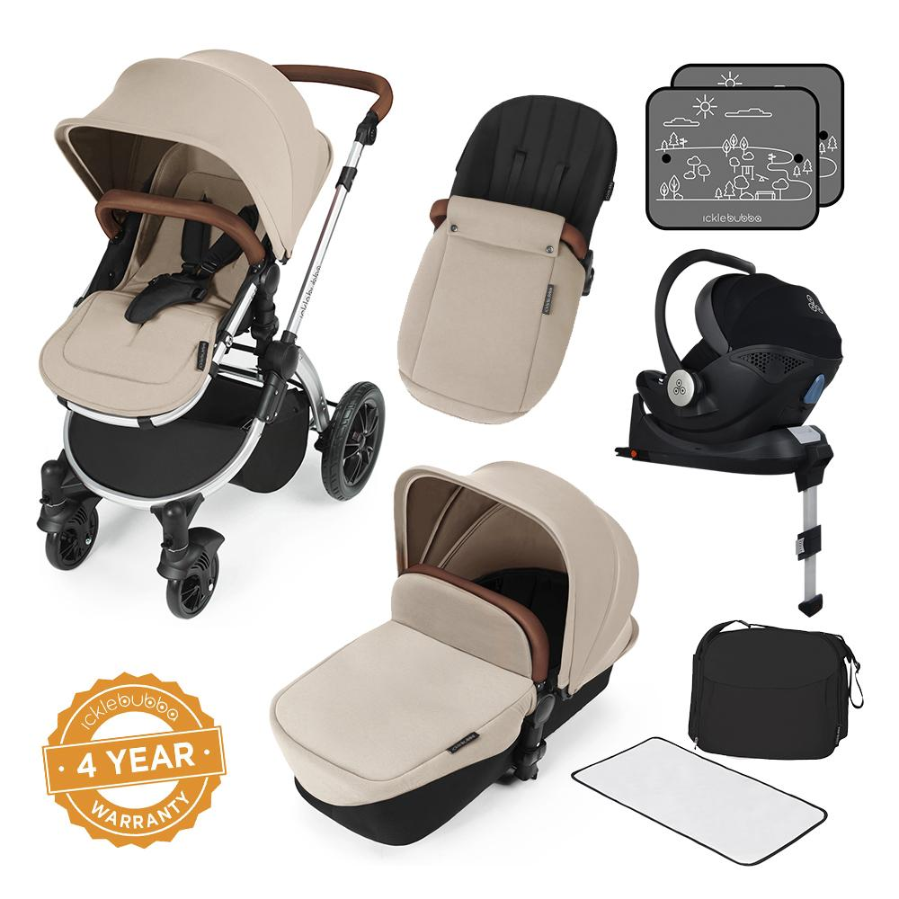 Ickle Bubba Stomp V3 i-Size All in One with Isofix Base - Silver/Sand