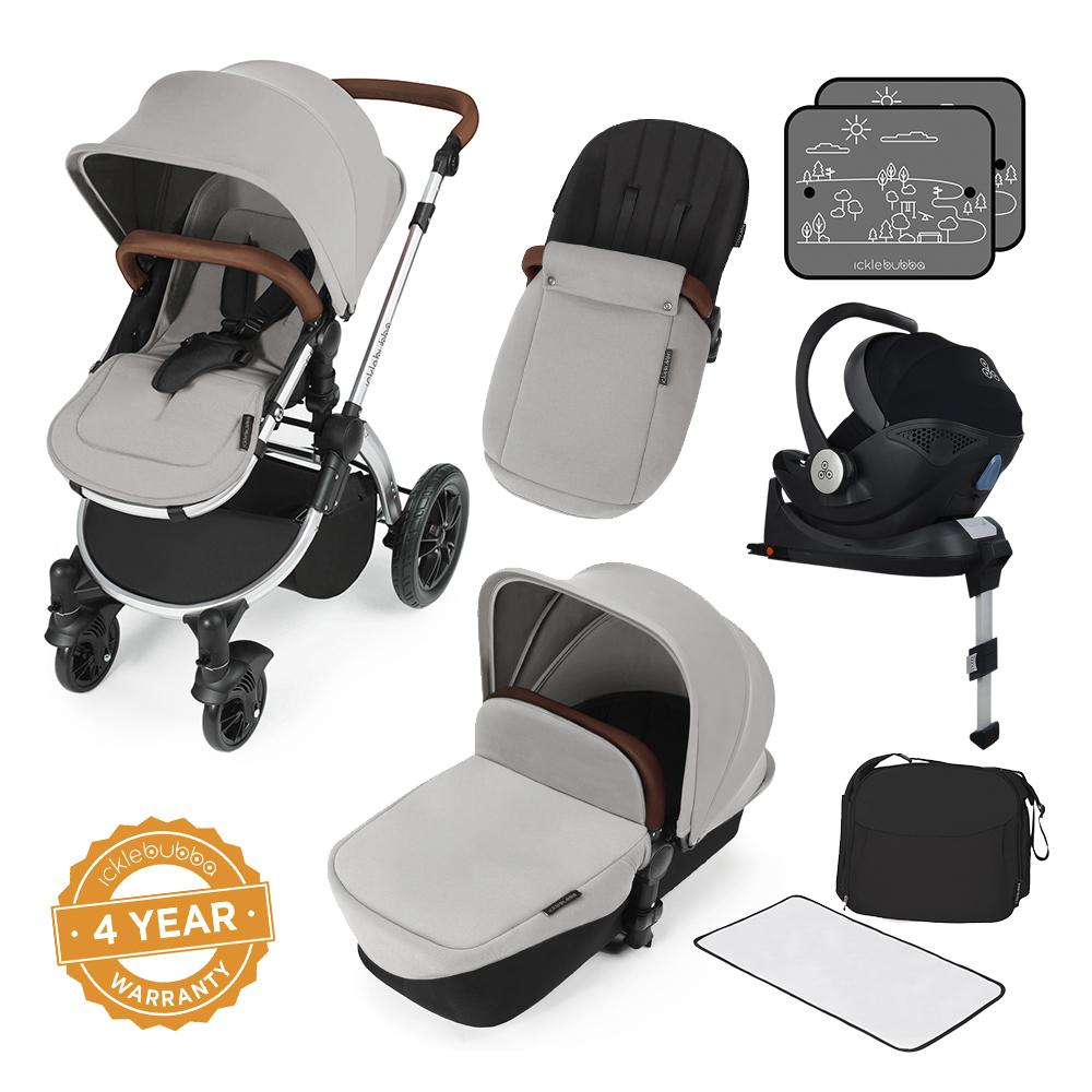 Ickle Bubba Stomp V3 i-Size All in One with Isofix Base - Silver/Silver