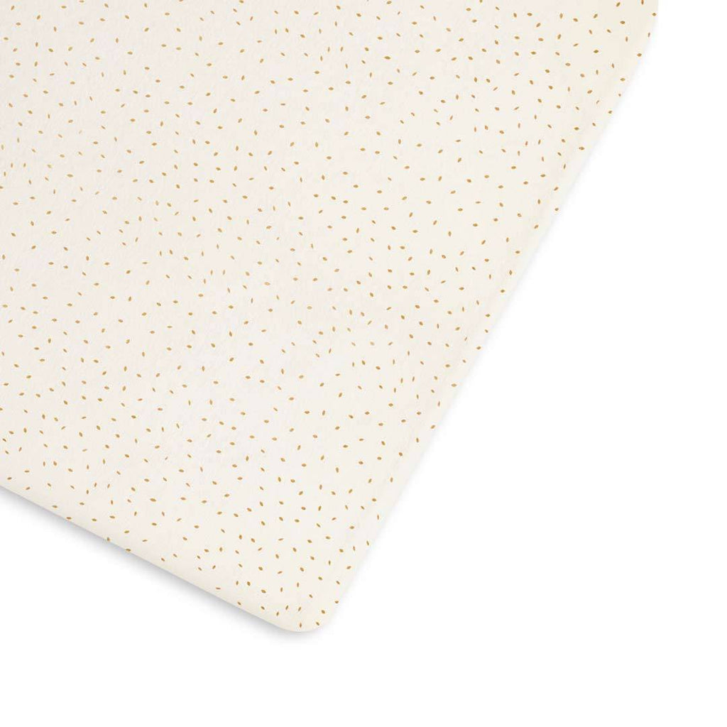 Organic Cot & Cot Bed Fitted Sheet - Linen Rice