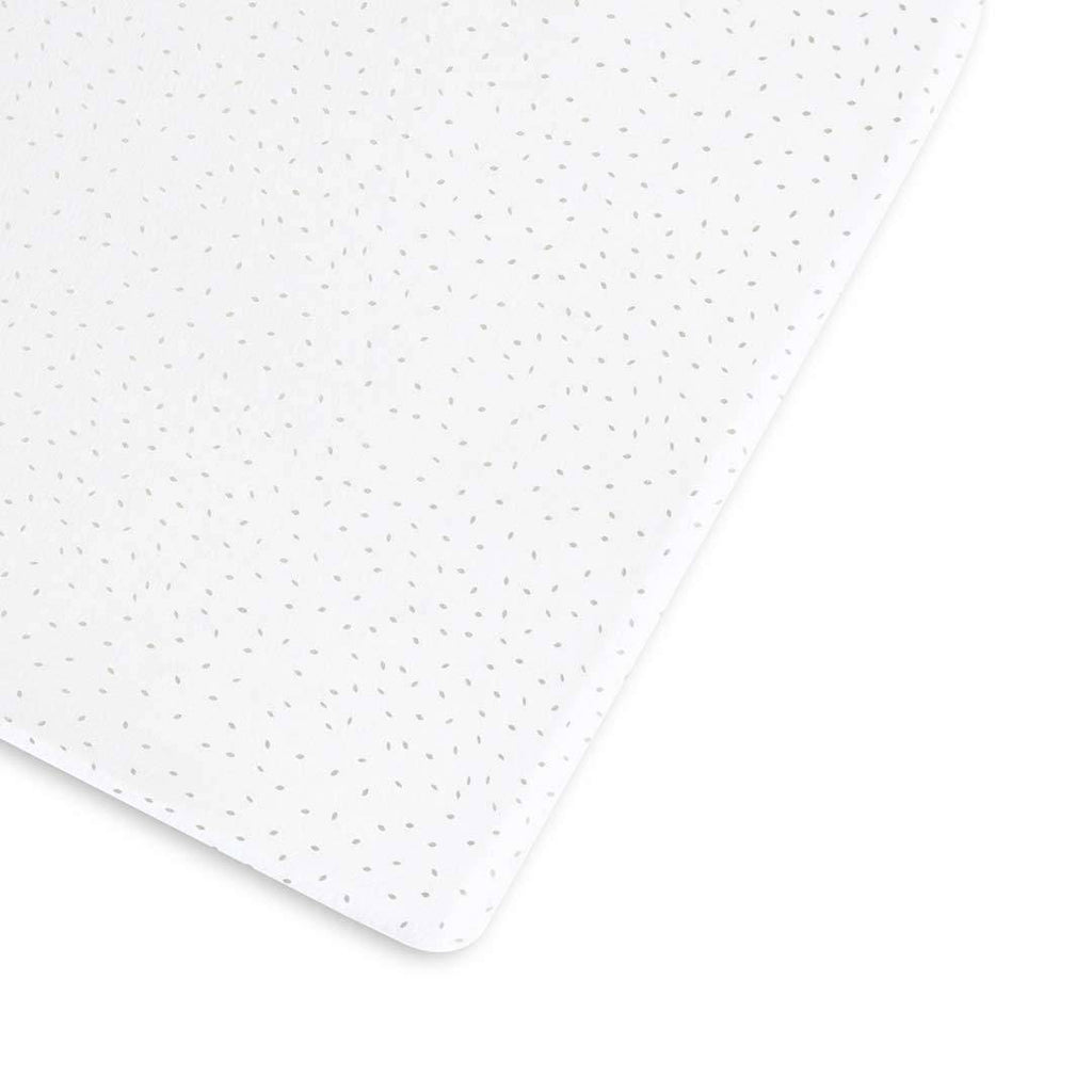 Organic Cot & Cot Bed Fitted Sheet - White rice