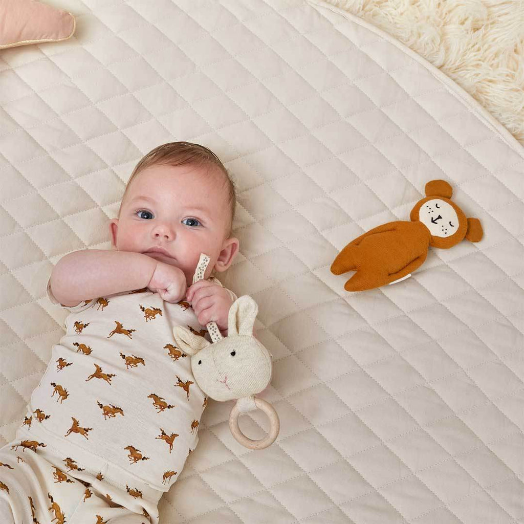 Little Green Sheep Baby Playmat - Linen