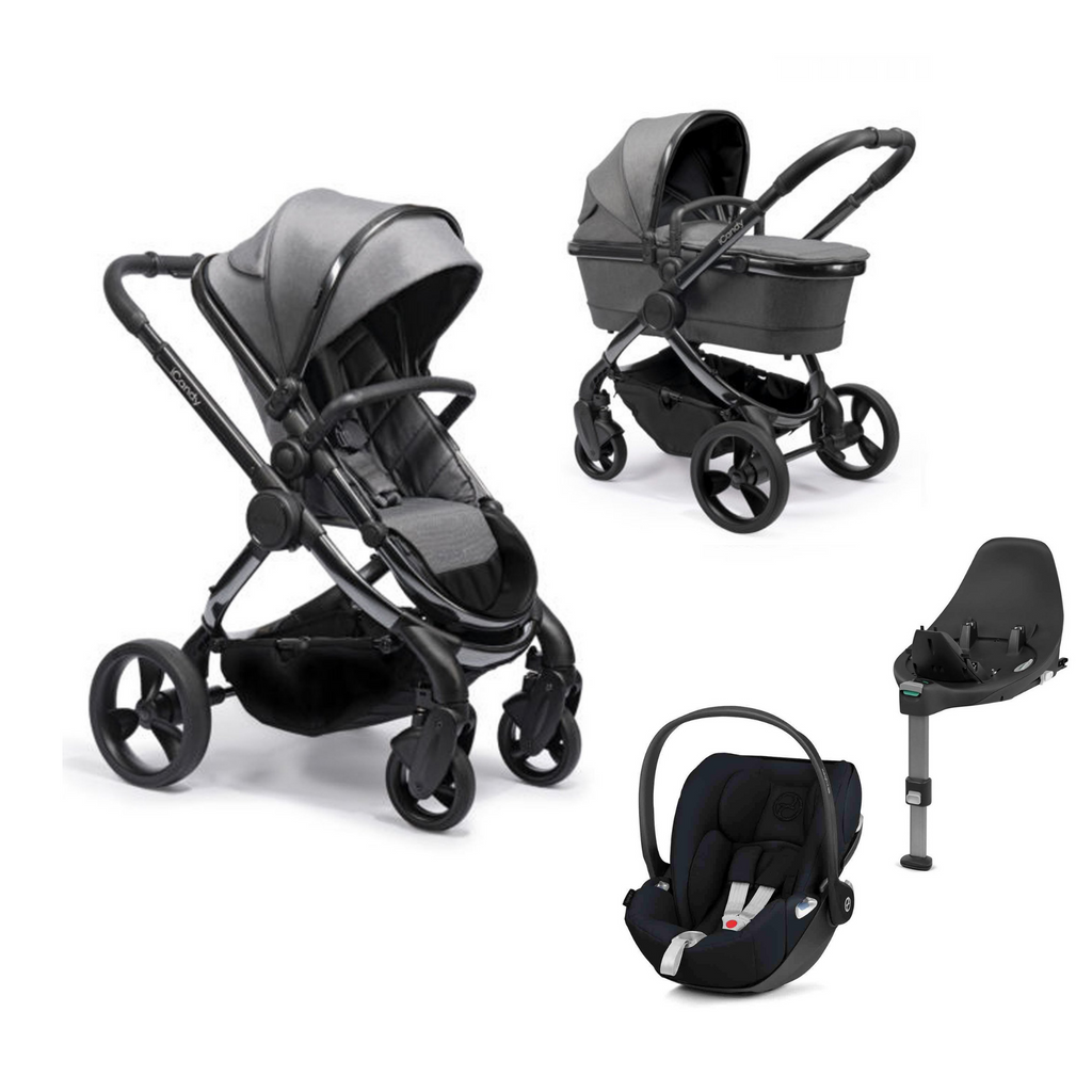 iCandy Peach + Cybex Cloud Z - Phantom Dark Grey Twill