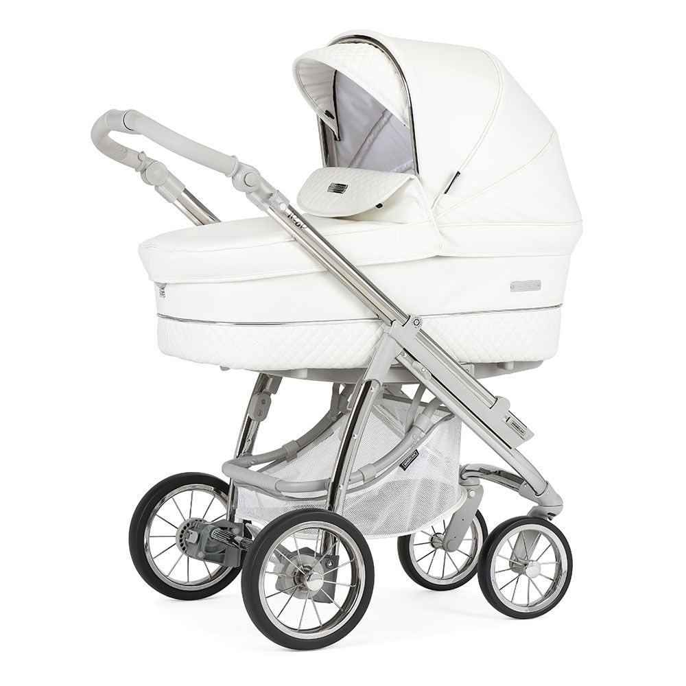 Bebecar Ip-Op XL Complete Travel System Pack & Raincover - White Delight