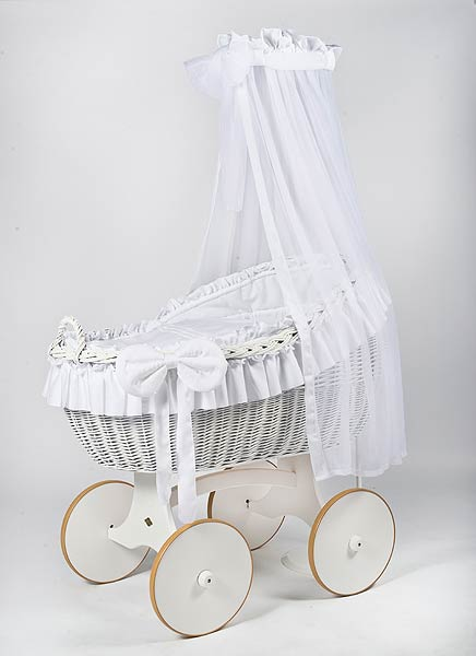 MJ Mark Bianca Due Crib With Solid Wheels (White) - Beautiful Bambino