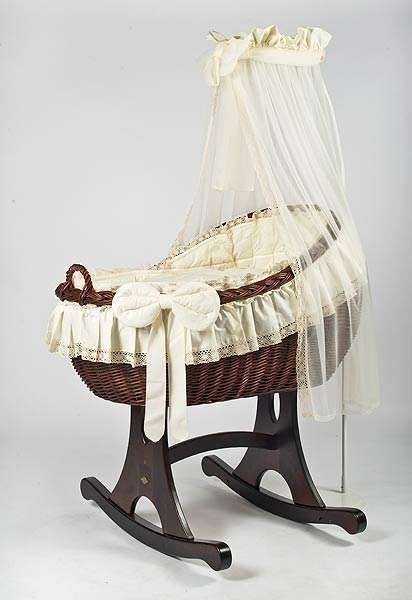 MJ Mark Bianca Tre Crib With Rocker (Dark) - Beautiful Bambino
