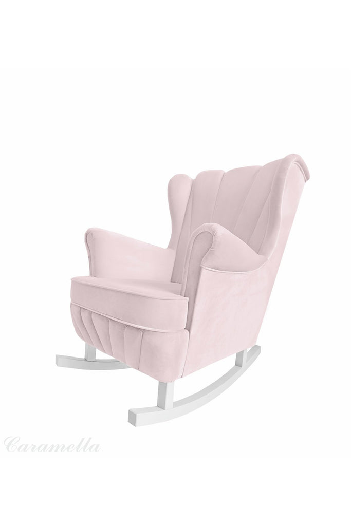Caramella Baby Pink Shell Rocking Armchair - Beautiful Bambino