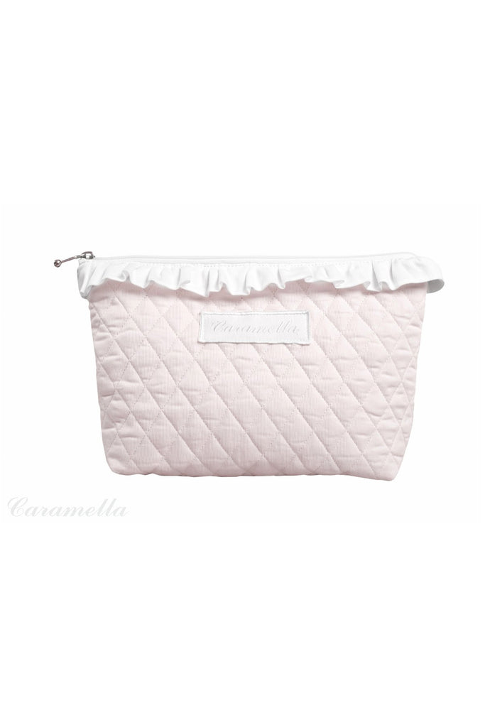 Caramella Quilted Baby Pink Beauty Case - Beautiful Bambino