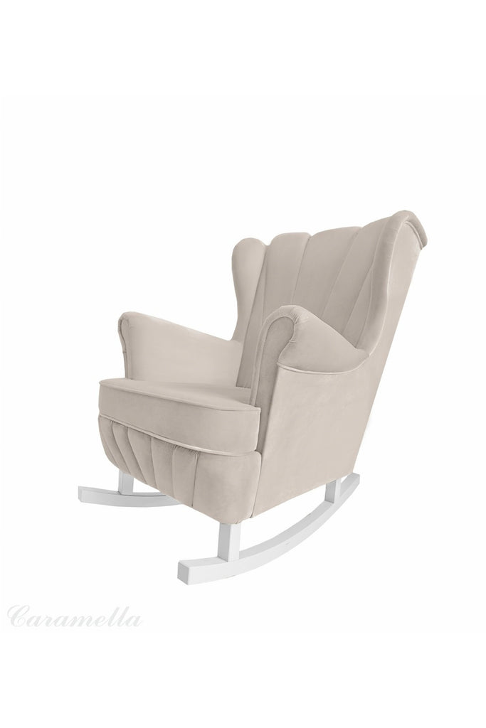 Caramella Beige rocking armchair Shell - Beautiful Bambino