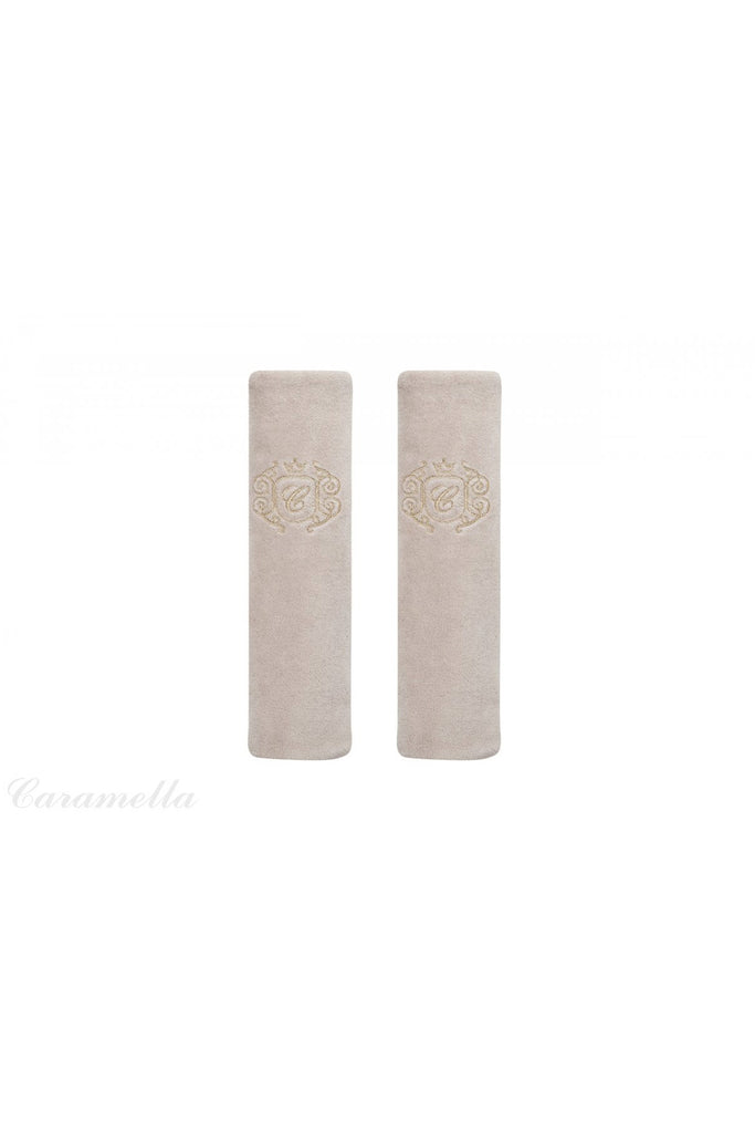 Caramella Golden Sand Seat Belt Pads - Beautiful Bambino