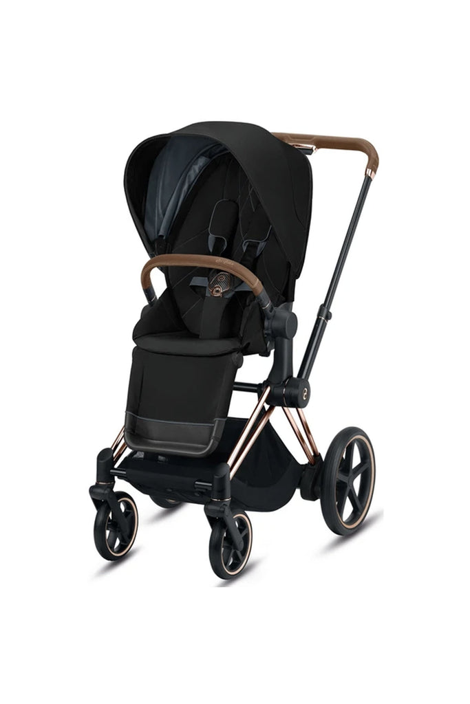Cybex e-Priam Pushchair 2020 - Deep Black - Beautiful Bambino