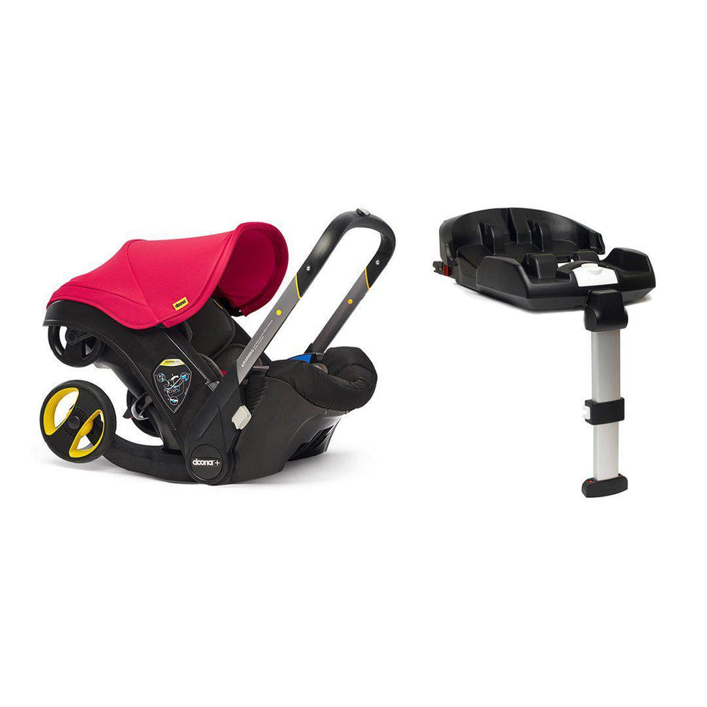 Doona+ Infant Car Seat + Base - Flame Red