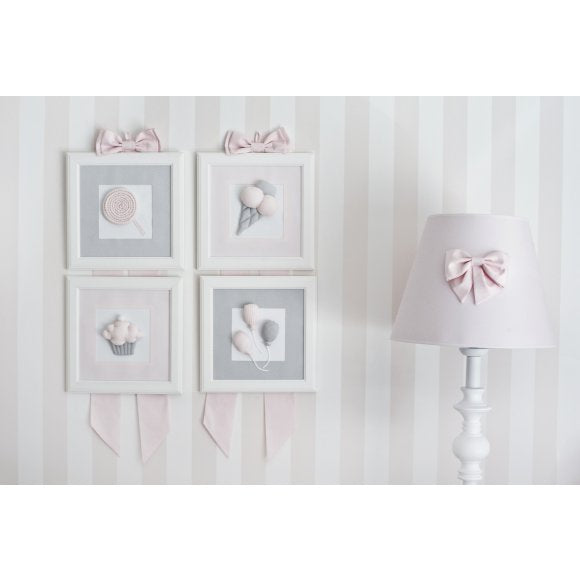 Caramella Light Grey Picture with Balloons - Beautiful Bambino