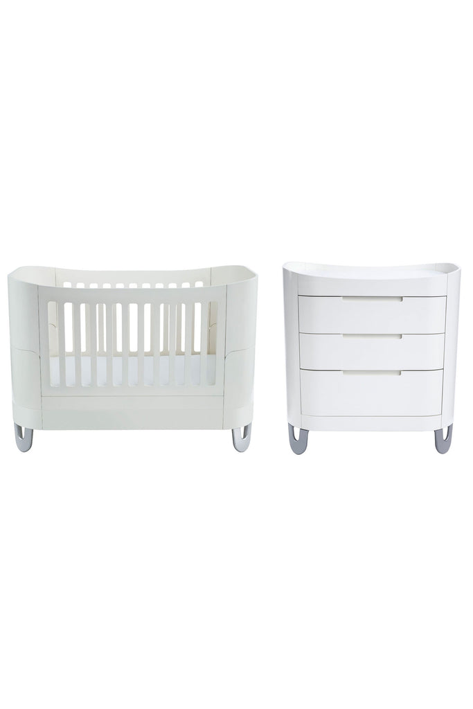 Gaia Serena Complete Sleep Baby Bed 2 Piece - White - Beautiful Bambino