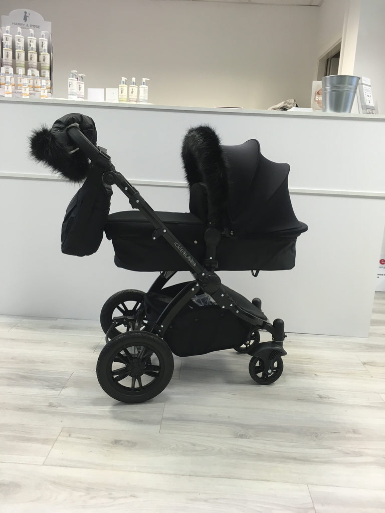 Black Universal Pram Hand Muff - Beautiful Bambino