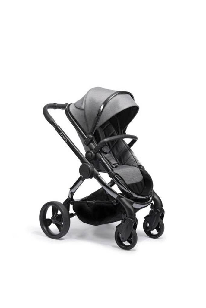 iCandy Peach Pushchair and Carrycot - Phantom Dark Grey Twill - Beautiful Bambino