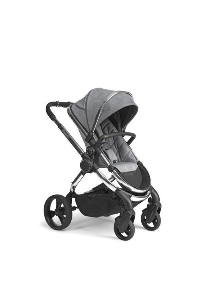 iCandy Peach Pushchair and Carrycot - Chrome Light Grey Check - Beautiful Bambino