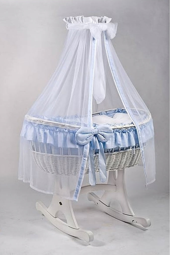 MJ Mark Ophelia White Wicker - Rocker - Beautiful Bambino