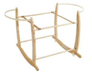 Deluxe Moses Basket Rocking Stand - Beautiful Bambino