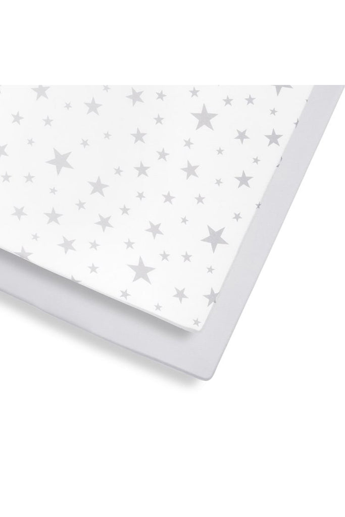 Snüz Cot & Cot Bed 2 Pack Fitted Sheet – Stars - Beautiful Bambino