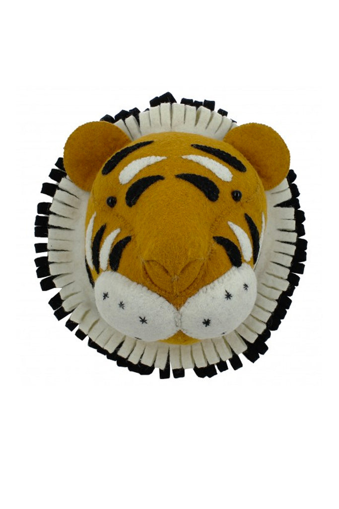 Fiona Walker England Decorative Double Ruff Tiger Head - Beautiful Bambino