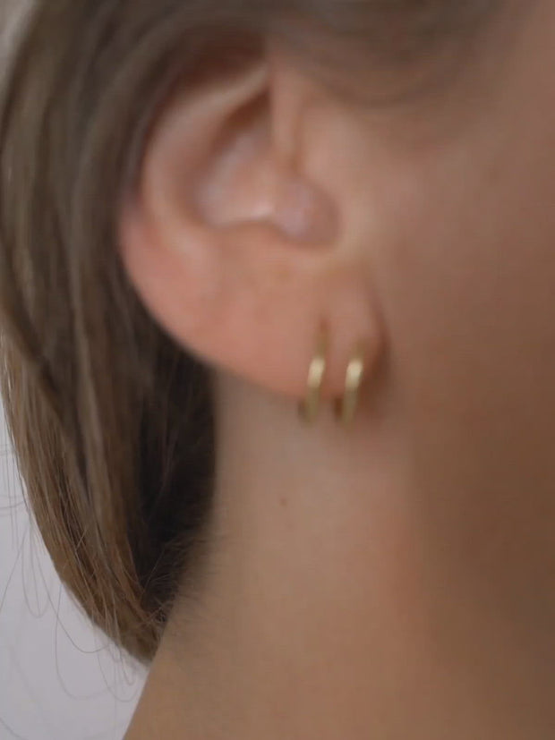 Spiral Earrings ethical & sustainable jewelry made from recycled 14k yellow gold