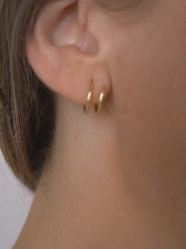 Spiral Earrings ethical & sustainable jewelry made from recycled gold vermeil