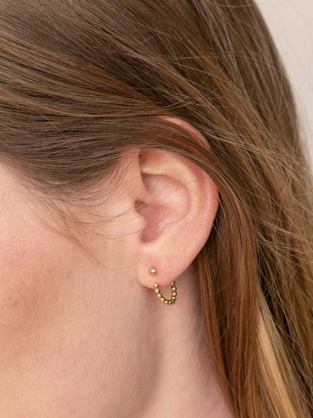 Beaded Hoop Earring Jackets ethical & sustainable jewelry made from recycled gold vermeil