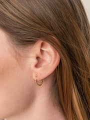 Beaded Hoop Earring Jackets ethical & sustainable jewelry made from recycled 14k yellow gold#metal_14k-yellow-gold
