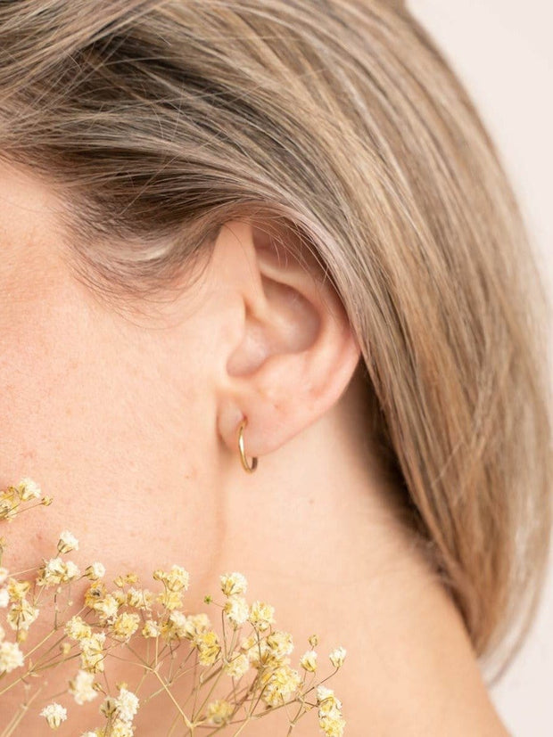 Endless Hoop Earrings ethical & sustainable jewelry made from recycled gold vermeil