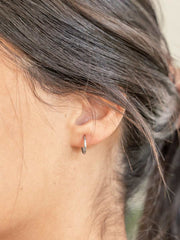 Endless Hoop Earrings ethical & sustainable jewelry made from recycled sterling silver#metal_sterling-silver