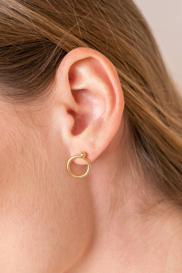 Halo Earring Jackets ethical & sustainable jewelry made from recycled gold vermeil